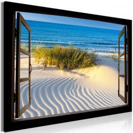 Murando DeLuxe Obraz okno s výhledem na pláž
