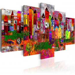 Murando DeLuxe Obraz - barevné mìsteèko