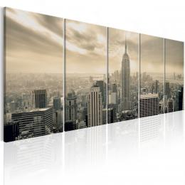 Murando DeLuxe Pìtidílný obraz - béžový Manhattan