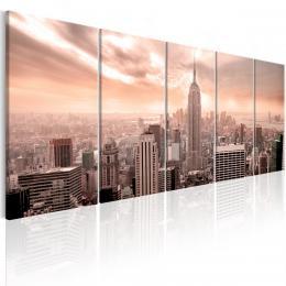 Murando DeLuxe Vícedílný obraz - New York Manhattan Velikost  125x50 cm