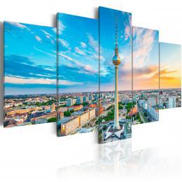 Murando DeLuxe Pìtidílné obrazy - Berlín