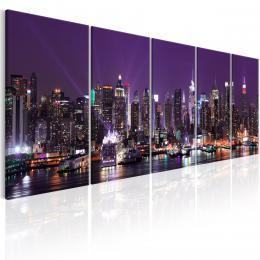 Murando DeLuxe Obraz - New York v lila