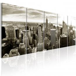 Murando DeLuxe Pìtidílný obraz - Manhattan Velikost  125x50 cm