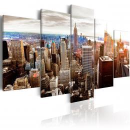 Murando DeLuxe Pìtidílný obraz - mrakodrapy Velikost  160x80 cm