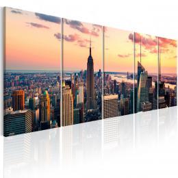Murando DeLuxe Obraz - Západ slunce v New Yorku