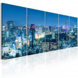 Murando DeLuxe Pìtidílný obraz - noc v Tokiu