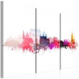 Murando DeLuxe Vícedílný obraz - barevné mìsto Velikost  90x60 cm