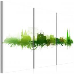 Murando DeLuxe Vícedílný obraz - zelené mìsto Velikost  90x60 cm