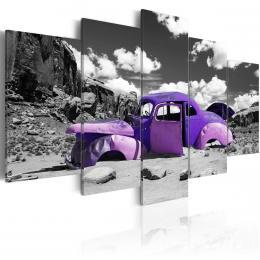 Murando DeLuxe Pìtidílné obrazy - fialový samotáø