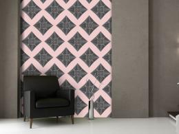 Murando DeLuxe Šedo rùžová mozaika Klasické tapety  49x1000 cm - samolepicí