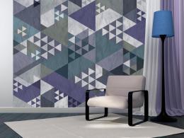 Murando DeLuxe Patchwork modrý Klasické tapety  49x1000 cm - samolepicí