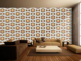 Murando DeLuxe Hnìdé slunce Klasické tapety  49x1000 cm - samolepicí