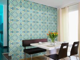 Murando DeLuxe Blankytná mozaika Klasické tapety  49x1000 cm - samolepicí