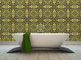 Murando DeLuxe Malachitová mozaika Klasické tapety  49x1000 cm - samolepicí
