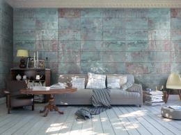 Murando DeLuxe Tyrkysový beton Klasické tapety  49x1000 cm - samolepicí