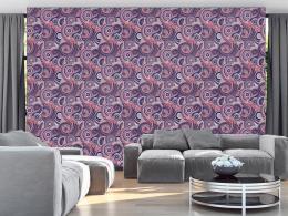 Murando DeLuxe Fialový ornament Klasické tapety  49x1000 cm - samolepicí