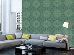 Murando DeLuxe Zelený ornament Klasické tapety  49x1000 cm - samolepicí