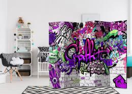 Murando DeLuxe Paraván fialové graffiti