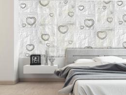 Murando DeLuxe Papírové srdce Klasické tapety  49x1000 cm - samolepicí