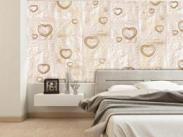 Murando DeLuxe Srdce ze zlata Klasické tapety  49x1000 cm - samolepicí