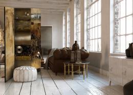 Murando DeLuxe Paraván metalická krása Velikost  135x172 cm