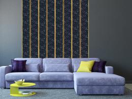 Murando DeLuxe Zlaté pruhy Klasické tapety  49x1000 cm - samolepicí