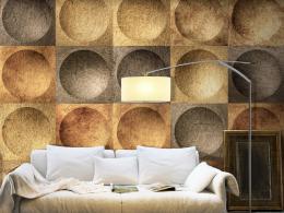 Murando DeLuxe Zlaté kruhy Klasické tapety  49x1000 cm - samolepicí