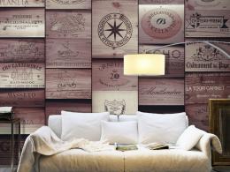 Murando DeLuxe Rùžová vinice Klasické tapety  49x1000 cm - samolepicí