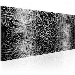 Murando DeLuxe Èernobílá mandala Velikost  120x40 cm