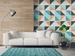 Murando DeLuxe Geometrické duo Klasické tapety  49x1000 cm - samolepicí