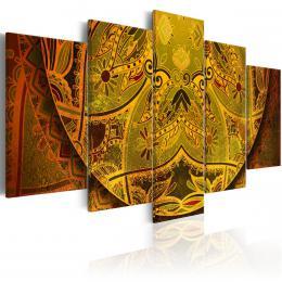 Murando DeLuxe Pìtidílné obrazy - zlatá Mandala