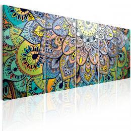 Murando DeLuxe Moderní obrazy na zeï - paví mandala