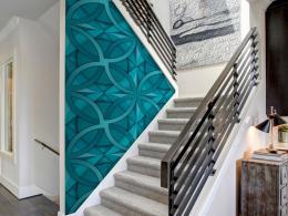 Murando DeLuxe Tyrkysová geometrie Klasické tapety  49x1000 cm - samolepicí