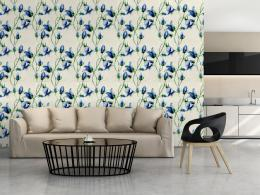 Murando DeLuxe Modré zvony Klasické tapety  49x1000 cm - samolepicí