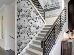 Murando DeLuxe Andìlské kvìty èernobílé Klasické tapety  49x1000 cm - samolepicí