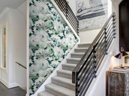 Murando DeLuxe Andìlské kvìty zelené Klasické tapety  49x1000 cm - samolepicí