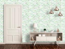 Murando DeLuxe Zelené vlny Klasické tapety  49x1000 cm - samolepicí