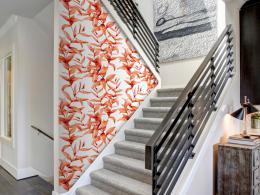 Murando DeLuxe Korálové listí Klasické tapety  49x1000 cm - samolepicí