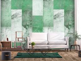 Murando DeLuxe Zeleno šedý obklad Klasické tapety  49x1000 cm - samolepicí