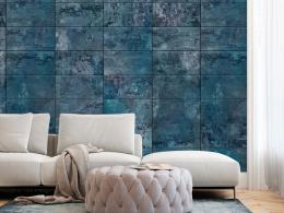Murando DeLuxe Tmavì modrý obklad Klasické tapety  49x1000 cm - samolepicí