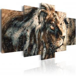 Murando DeLuxe Pìtidílný obraz - vzpomínka na krále