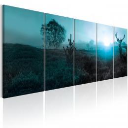 Murando DeLuxe Ètyødílný obraz - jelen Velikost  200x80 cm