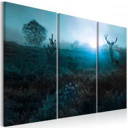Murando DeLuxe Tøídílný obraz - jelen v dálce Velikost  135x90 cm