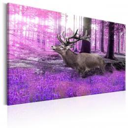 Murando DeLuxe Jelen ve fialovém lese Velikost  120x80 cm