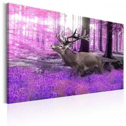 Murando DeLuxe Jelen ve fialovém lese Velikost  60x40 cm