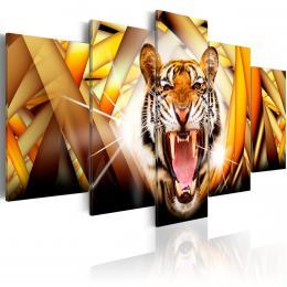 Murando DeLuxe Pìtidílný obraz tygr