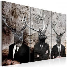 Murando DeLuxe Vícedílný obraz - jelení hlavy
