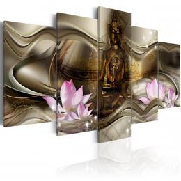 Murando DeLuxe Zlatá žena Velikost  100x50 cm
