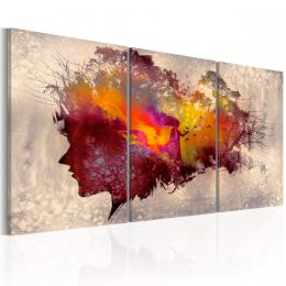Murando DeLuxe Tøídílné obrazy - barevná hlava