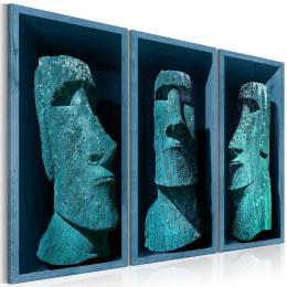 Murando DeLuxe Tøídílné obrazy - modré Velikonoèní kameny